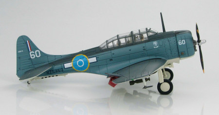Hobby Master HA0166 - 1/72 Scale Douglas SBD-5 Dauntless diecast model aircraft of the Royal New Zealand Air Force, NZ5060, Piva, 1944. www.armchairaviator.com.au