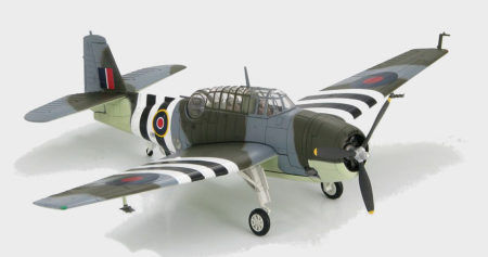 Hobby Master HA1210 - 1/72 scale Grumman Avenger II (TBM-1C) diecast aircraft model of JZ49, FAA, Royal Navy, RNAS Donbristle,1944. www.armchairaviator.com.au