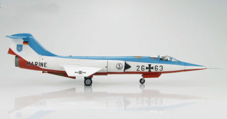 """Hobby Master HA1017 - 1/72 scale F-104G Starfighter diecast aircraft model of German Marine two aircraft demonstration team """"Vikings"""". www.armchairaviator.com.au"""