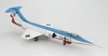 "Hobby Master HA1017 - 1/72 scale F-104G Starfighter diecast aircraft model of German Marine two aircraft demonstration team ""Vikings"". www.armchairaviator.com.au"