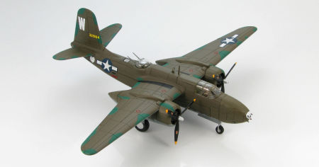 Starboard front quarter view of Hobby Master HA4205 - 1/72 scale Douglas A-20G Havoc 388th BS USAAF diecast aircraft model. www.armchairaviator.com.au