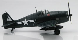 Hobby Master HA1116 - 1/72 scale Grumman F6F-5 Hellcat diecast aircraft model of White 71, VF-20, USS Enterprise, Oct 1944. www.armchairaviator.com.au