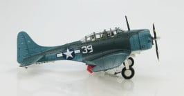 "Starboard view Hobby Master HA0170 - 1/72 Scale SBD-5 Dauntless ""White 39"" VB-16 Diecast Model Aircraft."