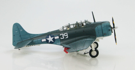 "Hobby Master HA0170 - 1/72 Scale Douglas SBD-5 Dauntless diecast model aircraft of ""White 39"", VB-16, Lt. Cook Cleland, USS Lexington, Battle of Philippine Seas, June 1944. www.armchairaviator.com.au"
