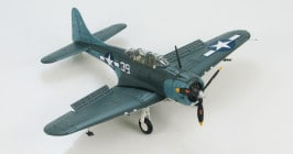 "Front Starboard view Hobby Master HA0170 - 1/72 Scale SBD-5 Dauntless ""White 39"" VB-16 Diecast Model Aircraft."