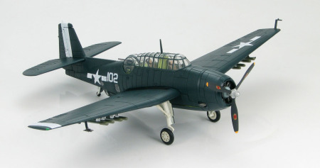 "Hobby Master HA1218 - 1/72 Scale Grumman TBM-3E Avenger diecast aircraft model of VT-10 ""The Buzzard Brigade"", USS Intrepid, US Navy, Spring 1945. www.armchairaviator.com.au"
