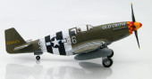 Starboard side view of Hobby Master HA8503A - 1/48 scale North American P-51B Mustang 363rd FS USAAF Diecast Aircraft Model with Autographed Name Plate.