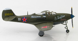 Starboard View Hobby Master HA1714 - 1/72 Scale Bell P-39N Aircobra Diecast Model Aircraft of White 0,1 Grigorii Ustinovich Dol'nikov, 100 GIAP, Germany, May 1945.