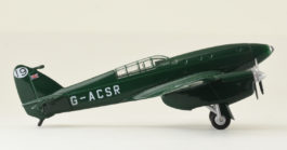 Starboard View Oxford Diecast 72COM003 - 1/72 Scale DH 88 Comet Diecast Model Aircraft of G-ACSR, MacRobertson International Air Race, October 1934.