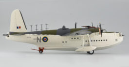 Starboard View Corgi AA27501 - 1/72 Scale Short Sunderland Mk III Diecast Model Aircraft of EJ134, No 461 Sqn RAAF, Bay of Biscay, June 2, 1943.