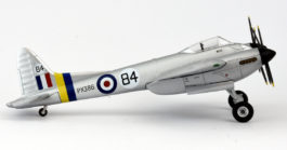 Starboard view Oxford Diecast 72HOR005 - 1/72 Scale de Havilland DH 103 Hornet F 3 Diecast Model Aircraft of PX 386, RAF, National Air Races 1949, Elmdon, England.